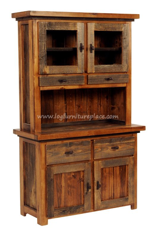 Enjoy the Beauty and Convenience of a Western Style Barnwood Hutch