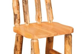 Amish Rustic Pine Log Side Chair Furniture from long ago is captured