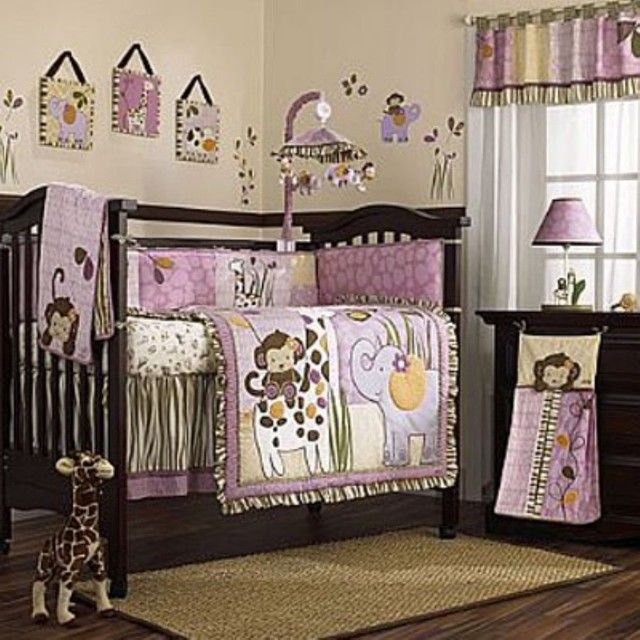 Bedroom, Traditional Baby Girl Bedding Sets For Cribs Simple Modern