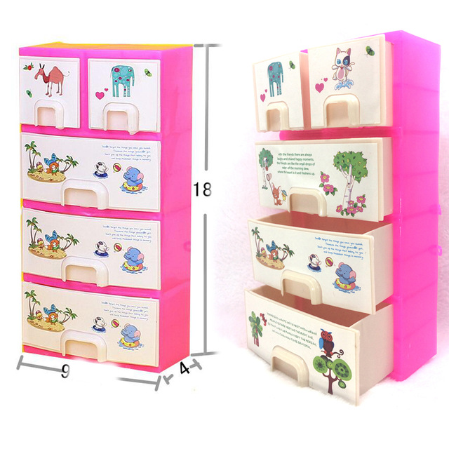 NK One Set Doll Accessories Baby Toys New printing Closet Wardrobe
