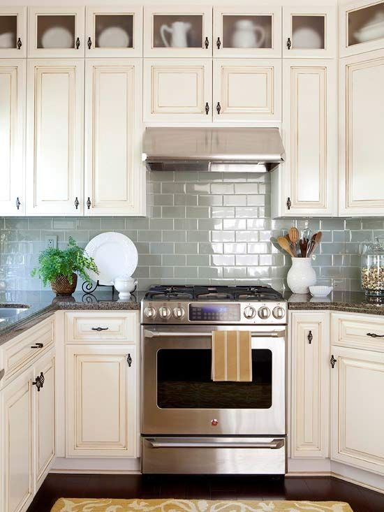 Colorful Kitchen Backsplash Ideas | home ideas | Cottage kitchens
