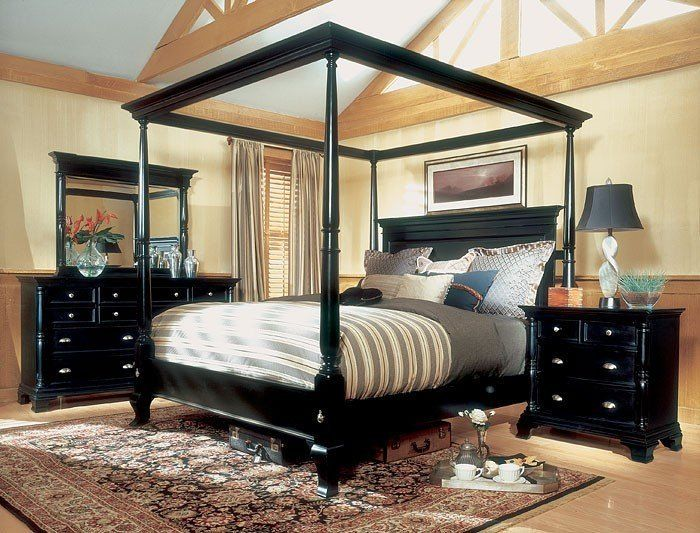 Magnussen Hastings King Size Four Poster Canopy Bed Set | New Home
