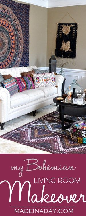 Boho Living Room Makeover: Pop of Color with World Market | Bloggers