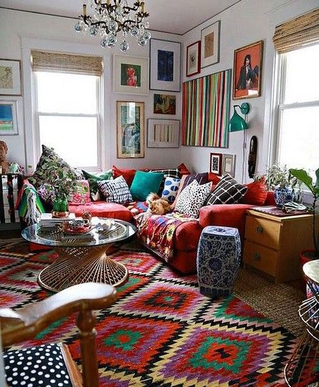 Vibrant Bohemian Colors And Patterns: Design Trend 2017 | Home - A