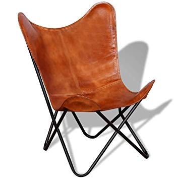 Amazon.com: SR Leather Living Room Chairs-Butterfly Chair Brown