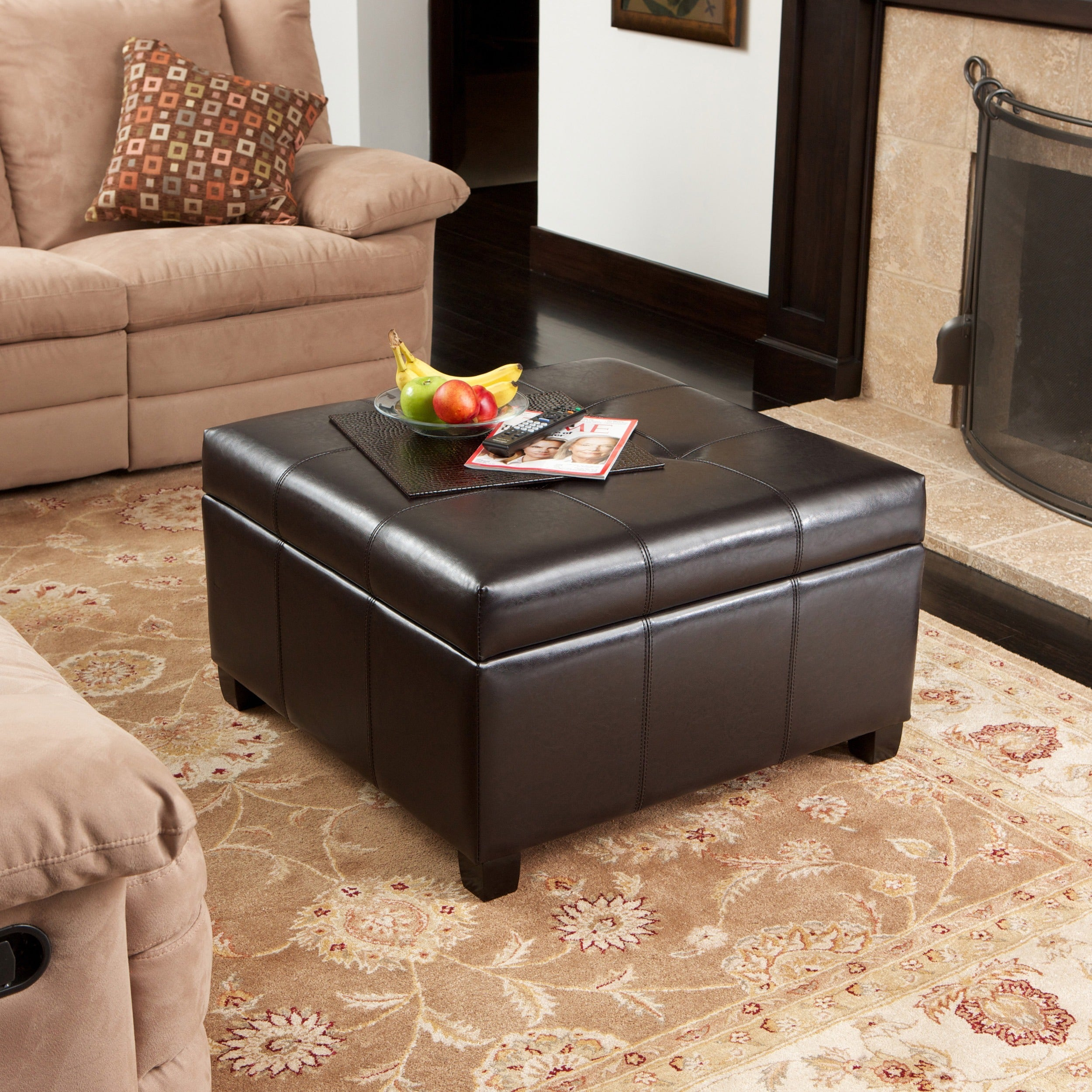 Buy Leather Ottomans & Storage Ottomans Online at Overstock | Our