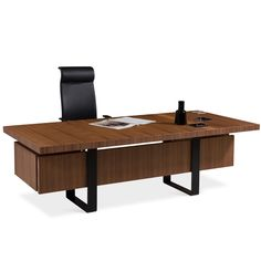 Gazel Wooden Office Desk is ideal for management, directors or  professionals wishing to experience a top quality modern office