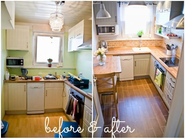Small Kitchen Ideas on a Budget - Before & After Remodel Pictures of