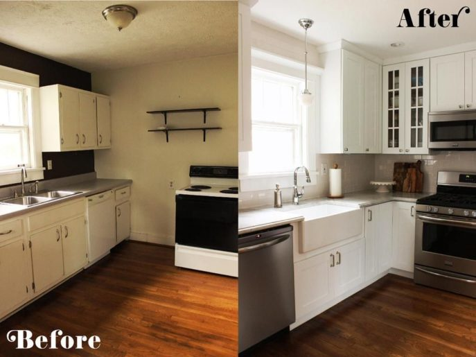 Kitchen Remodel Ideas For Small Property Diy Before After Pictures