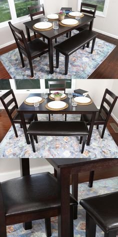 Dining Sets 107578: Breakfast Nook Table Cushion Set Corner Bench