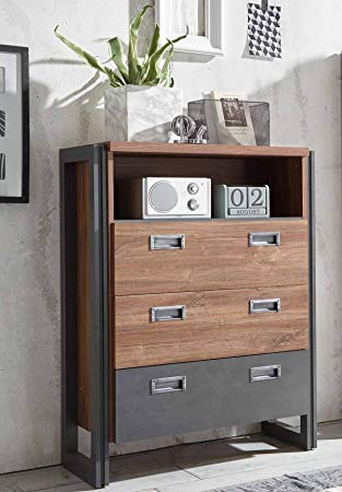 lifestyle4living Highboard, Anrichte, Kommode, Vitrine, Schrank