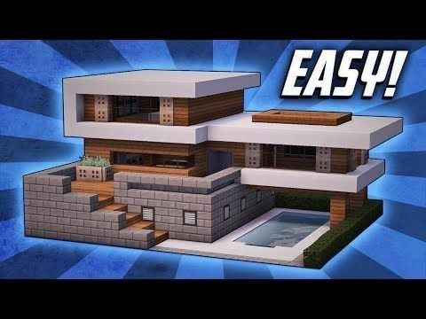 Minecraft einfaches modernes Haus-Design #colleminecraft #aveccolle