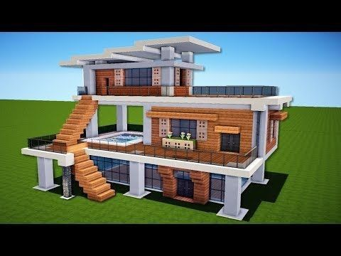 Minecraft einfaches modernes Haus-Design #etmaxresdefault #ideas