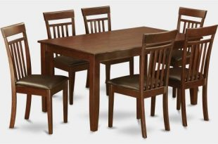 7-Pc Dining Set with 6 Dining Chairs, Brown | Esszimmer in 2019