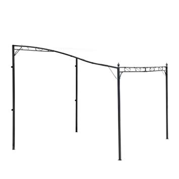 Amazon.de: Outsunny 3 m x 3 m Deluxe Himmel Metall Wand-Pavillon