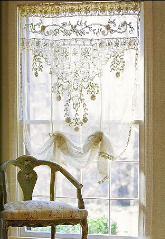 Lace, lace, lace LOVE it! These lace curtains can be found at
