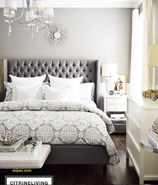 Grey Upholstered Headboard Bedroom Ideas | Bed | Bedroom inspo, Home