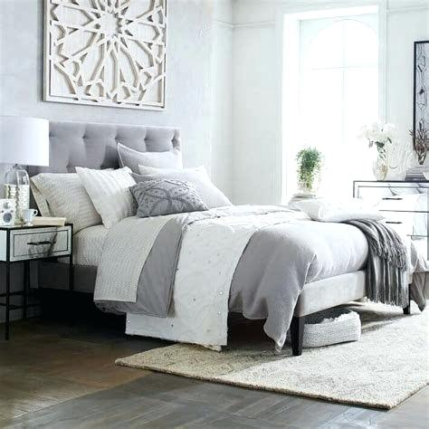 Grey Padded Headboard Upholstered Bedroom Ideas Designs The Paper