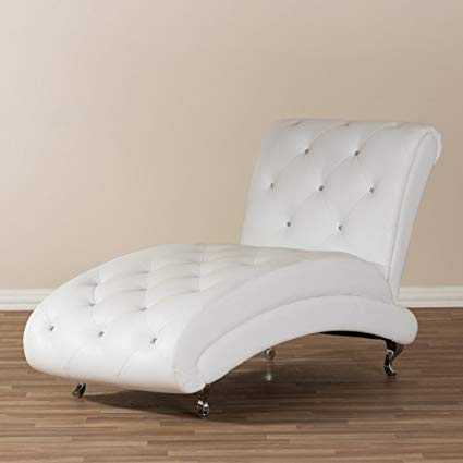 Amazon.com: Indoor Chaise Lounge Chair - Modern Oversized Button