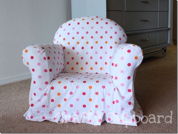 Slipcovered Kid Chair: Cover the gross old thrifted chairs with a