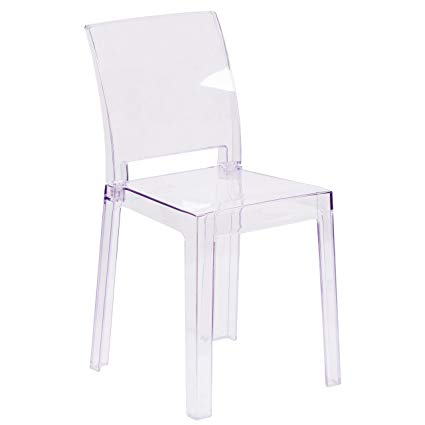 Amazon.com: Flash Furniture Ghost Chair with Square Back in