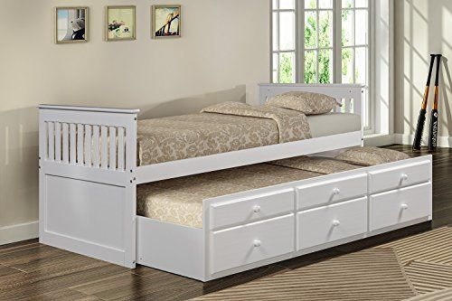 Amazon.com: Merax Captain's Bed with Trundle Bed and Drawers, Twin