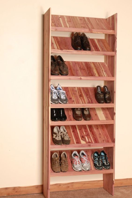 16 Creative DIY Shoe Rack Made Out Of Pallet Cheap And Simple