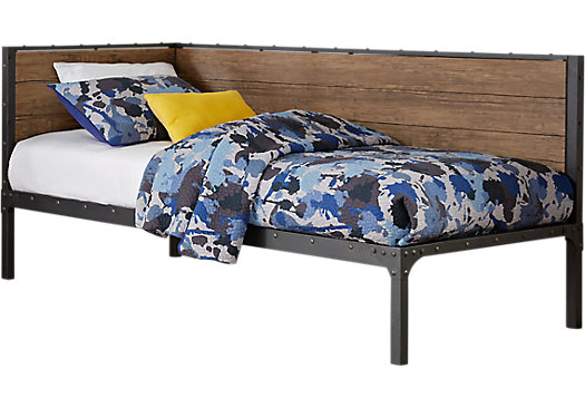 Conlan Brown Twin Corner Daybed | FH E | Daybed, Boys single bed, Bed