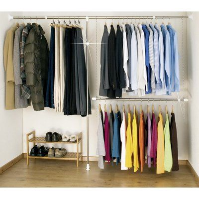 Adjustable Clothes Storage System up to 244cm Wide in 2019 | closet