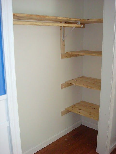 good idea for closet shelves. Think I may try thisand cover the