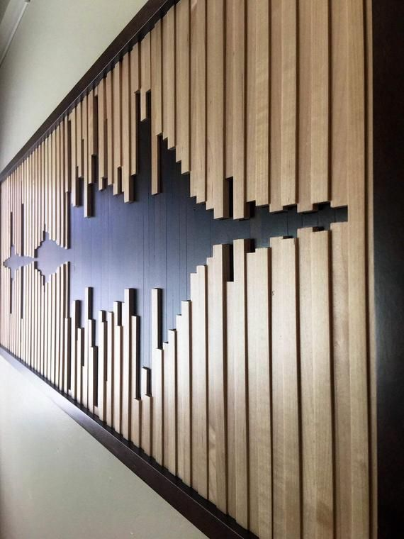 Abstract sound wave, wood wall art, wood wall, sound wave wall art