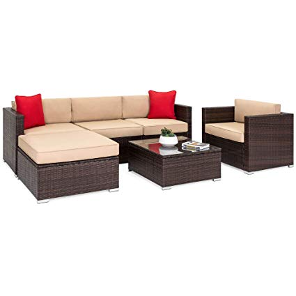Amazon.com : Best Choice Products 6-Piece Outdoor Patio Sectional