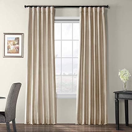 Amazon.com: Half Price Drapes PTCH-BO130907-96 Blackout Faux Silk
