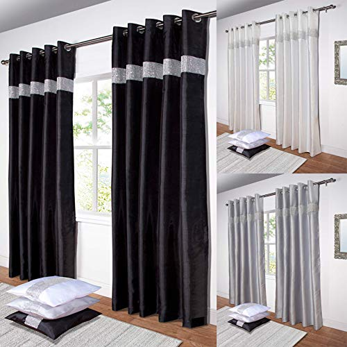 Black Eyelet Curtains: Amazon.co.uk