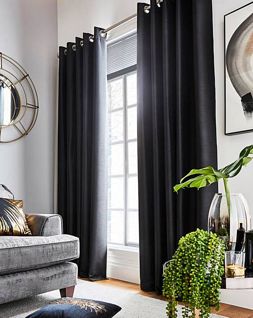 Faux Silk Eyelet Curtains | Oxendales
