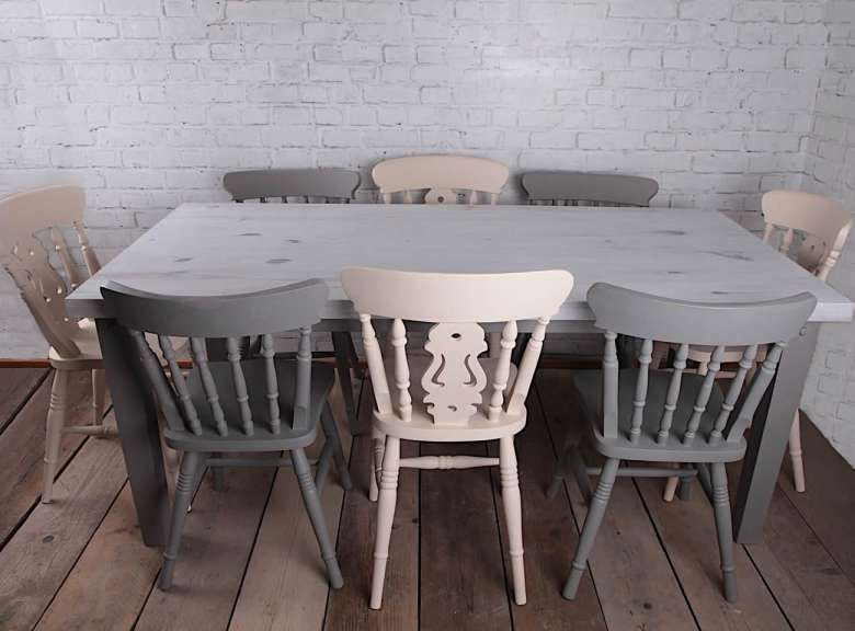 12 Beautiful Shabby Chic Dining Table And Chairs Set Photos