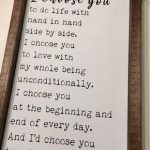 I'd Choose You Sign, Wedding Gift, Anniversary Gift, Valentines Day Gift, Rustic, Wood Sign, Hand Painted Sign, Framed Sign, I Choose You,