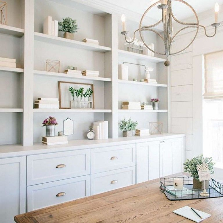 18 Good Dining Room Built-In Cabinets and Storage Design