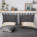 2-pack headboard covers with loops and zipper. Description: - Struk - From my HoMe
