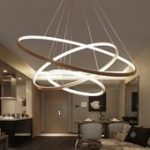 64% Off_Modern Circle Rings Acrylic Aluminum Pendant Lights For Living Room Dini...