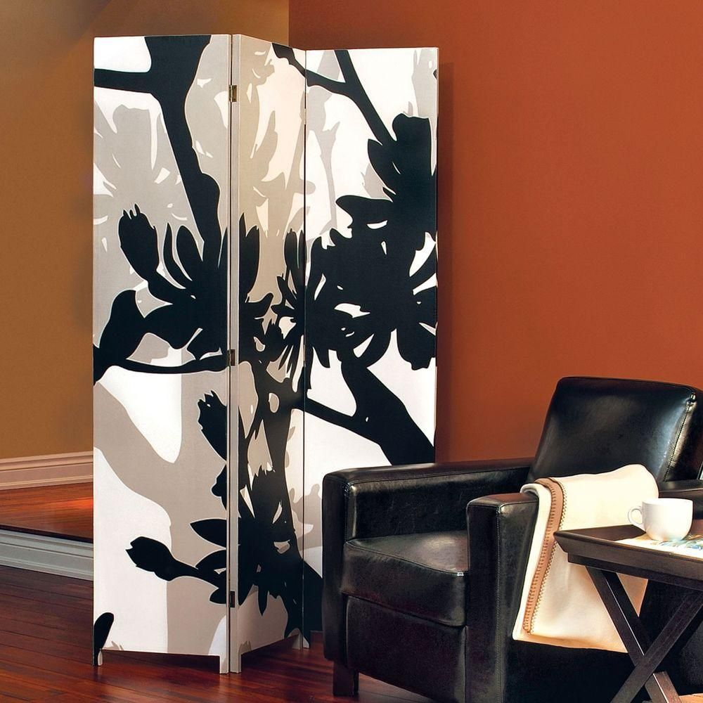 AZ Home and Gifts Bota 5.92 ft. Black and Taupe 3-Panel Room Divider FN16966-3 – The Home Depot