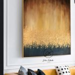 Abstract Painting On Canvas, Large Wall Art, Textured Art, Large Canvas Art,Gold Leaf Painting, Wall Art Painting Original  by Julia Kotenko