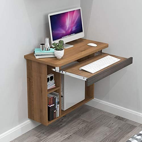 Amazon.com: Floating shelf Floating Wall Computer Desk Study Desk with Bookshelves Home Laptop Notebook Table Writing Desk Office Workstation Hanging Desk Drop-Leaf Table Learning Desk with Keyboard Tray and Stor: Home & Kitchen