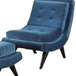 Armen Living 281 5Th Avenue Armless Swayback Lounge Chair, Cerulean Blue Fabric ...
