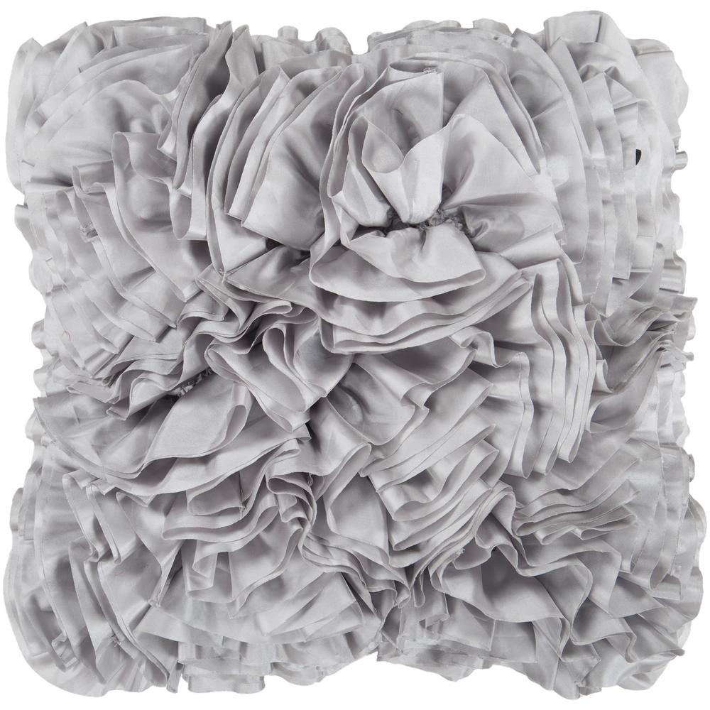 Artistic Weavers Uxbridge Grey Solid Polyester 18 in. x 18 in. Throw Pillow S00151046125 – The Home Depot