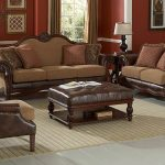 Attractive Brown Leather Ottoman Coffee Table