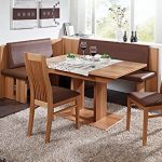 Breakfast nook 4 piece dining set Malta brown leatherette *** You can get more d...