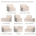 Build Your Own - Buchanan Roll Arm Slipcovered Sectional