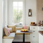 Chic sitting area kitchen for small kitchen in white -  white sitting area with ...