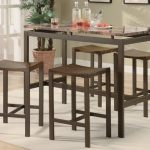 Coaster 5 PC Industrial Brown Counter Height Dining Set